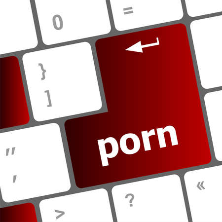 Porno bot�n en el teclado de ordenador pc photo