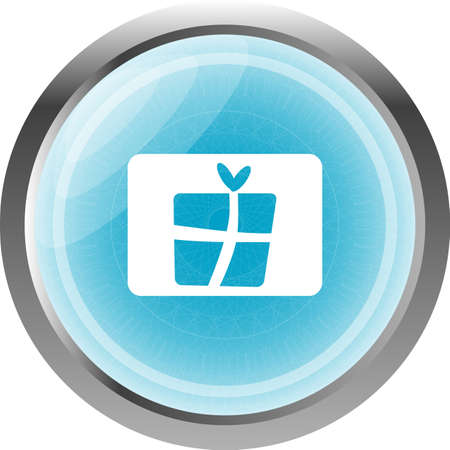 Gift icon web app button isolated on white photo