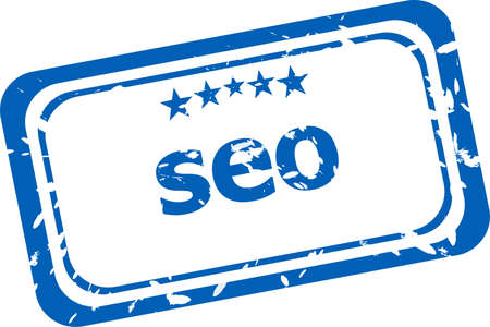 SEO, search engine optimization stamp isolated on white background photo