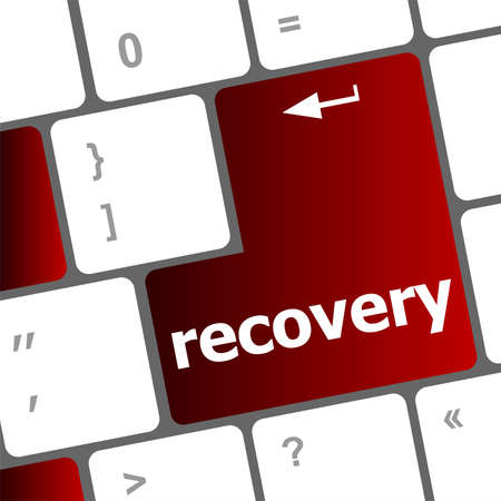 recovery text on the keyboard key photo