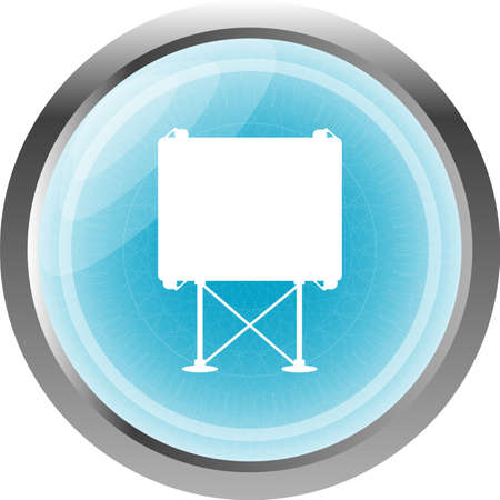indicator board: billboard button icon web sign isolated on white Stock Photo