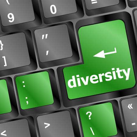 elearn: A computer keyboard with blue keys spelling diversity, Learn