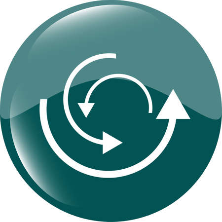 abstract circles lines (arrows) on web glossy icon (button) photo