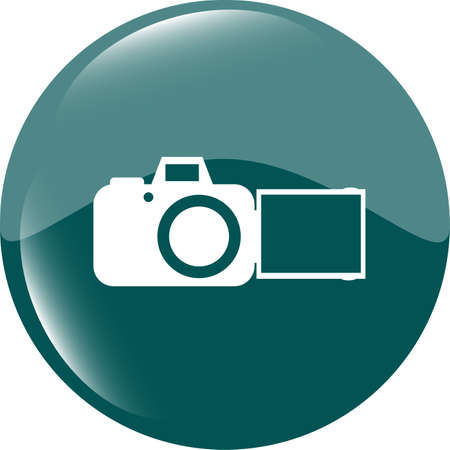 camera web icon isolated on white background photo