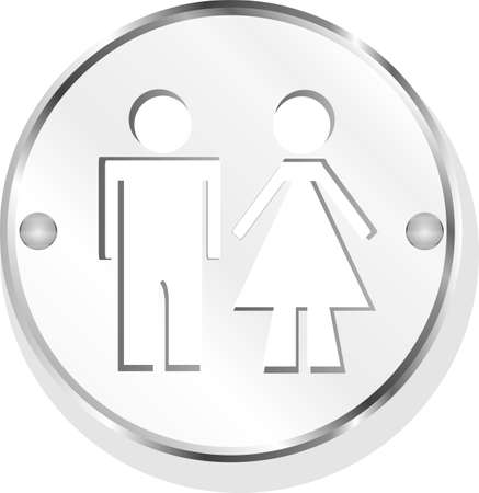 icon toilet button, Man and Woman, isolated on white photo