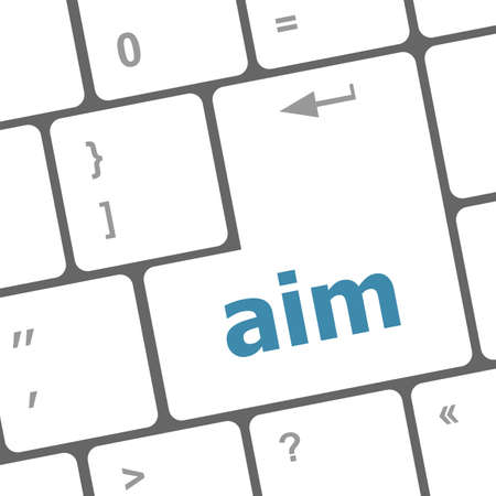aim word with key on enter keyboard photo