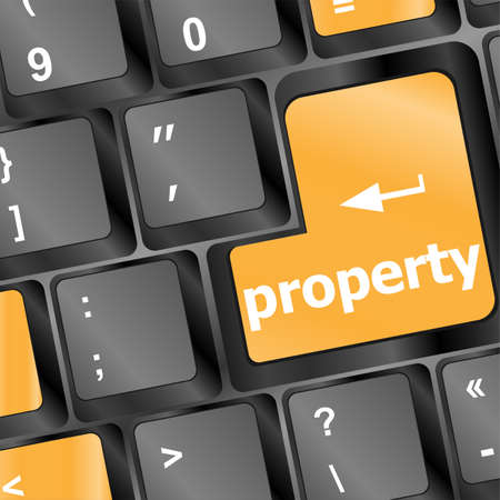 property message on keyboard enter key photo