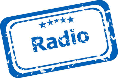 musik: radio Rubber Stamp over a white background