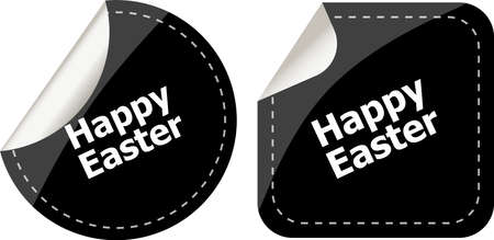 Easter sign icon. Easter label tag symbol photo