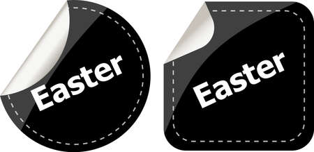 easter sign: Easter sign icon. Easter label tag symbol Stock Photo