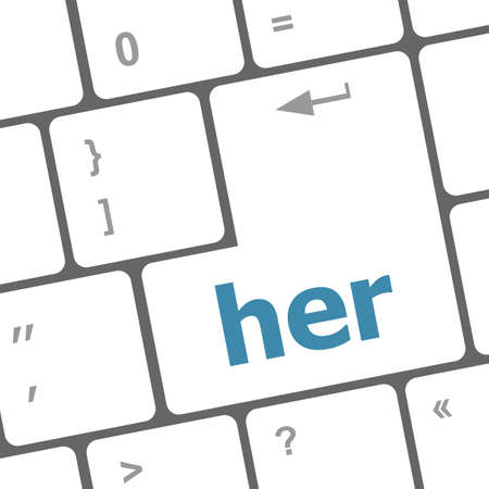 her word on computer pc keyboard key photo