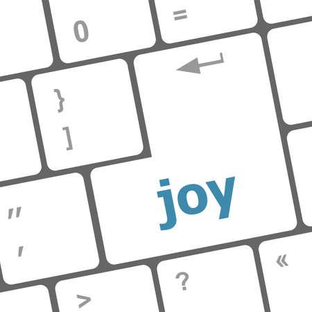 vocational high school: joy word on computer keyboard pc key