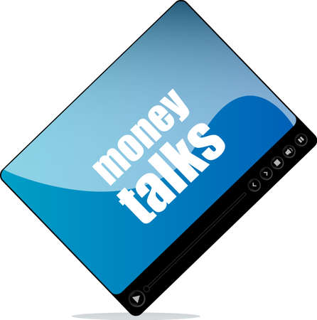 talks: Video media player for web with money talks word