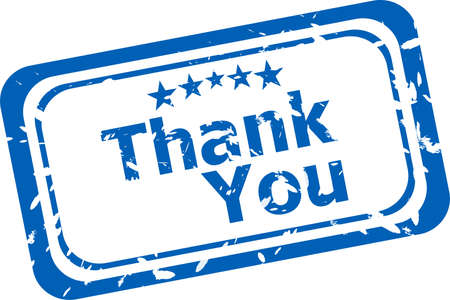 many thanks: Stylized stamp showing the term thank you. All on white background Stock Photo