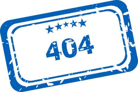 404 error Rubber Stamp over a white background photo