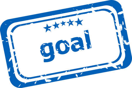 goal Rubber Stamp over a white background photo
