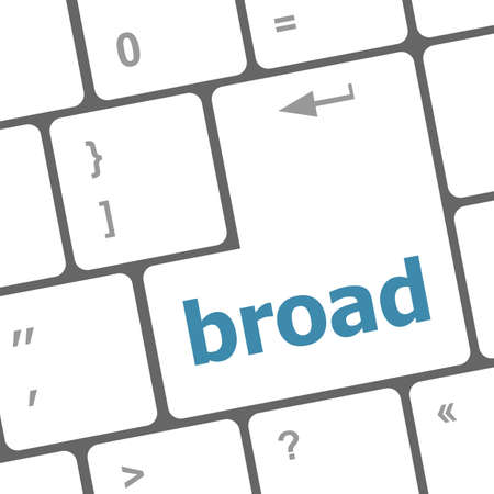 broad: broad word on keyboard key