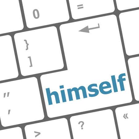 numpad: himself word on computer pc keyboard key