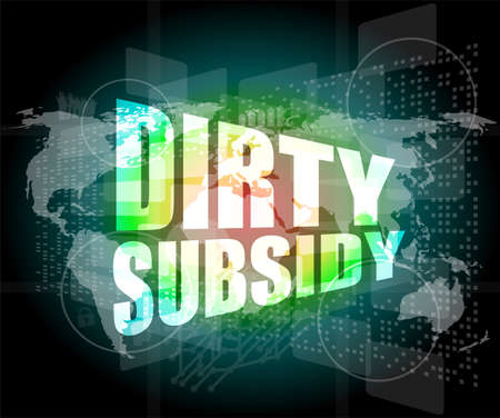 dirty subsidy on digital touch screen photo