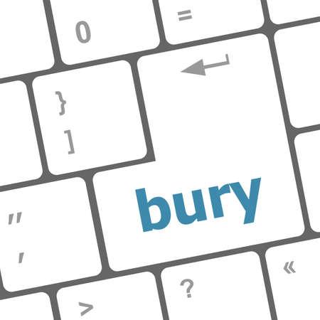 bury: bury word on computer keyboard key
