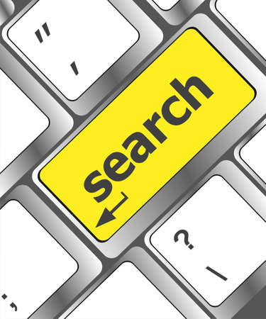 search concept on the modern computer keyboard key