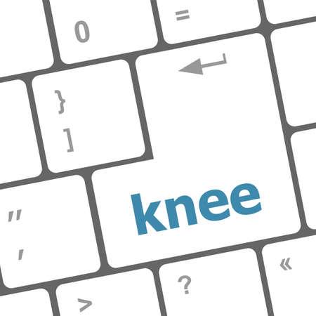 knee word on computer keyboard keys photo