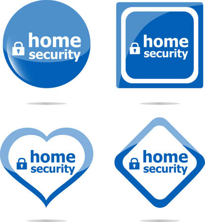 proxy: home security with lock on stickers set