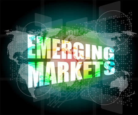 emerging: word emerging marketing on digital touch business screen Stock Photo