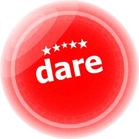 dare: dare word red web button, label, icon Stock Photo