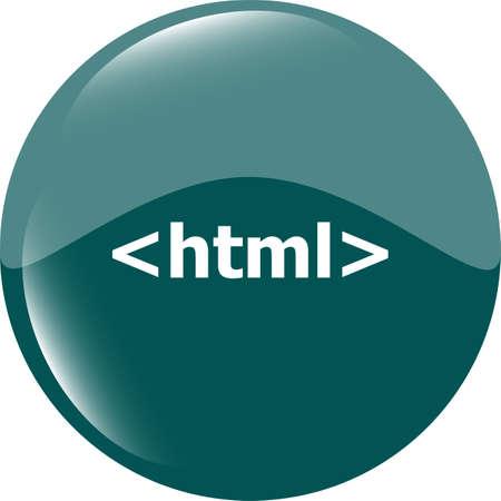 html 5 sign icon. Programming language symbol. Circles buttons Stock Photo - 28170276