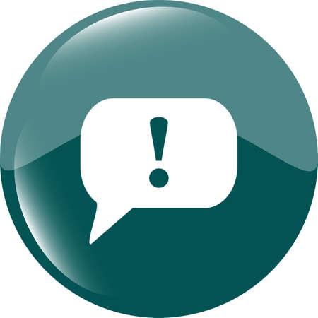 Attention sign icon. Exclamation mark. Hazard warning symbol. Modern UI website button photo