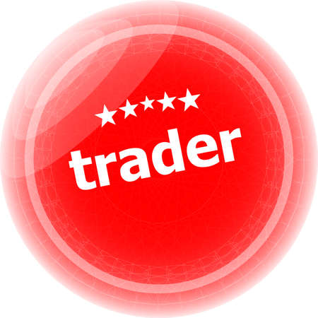 trader: trader on red rubber stamp over a white background Stock Photo