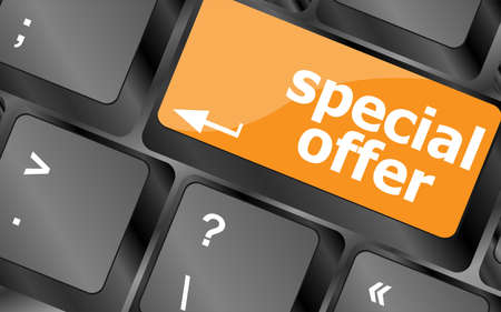 special offer button on computer keyboard keys Stock Photo - 28346663