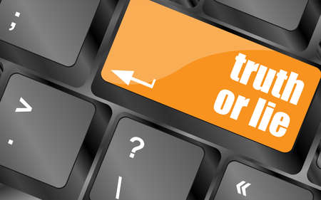lie: truth or lie button on computer keyboard key