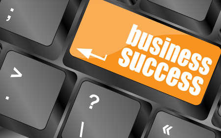 business success button on computer keyboard key photo