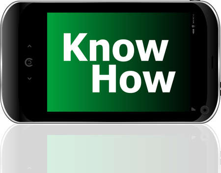 smart phone with know how word photo