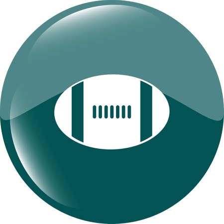 Football ball icon web button photo