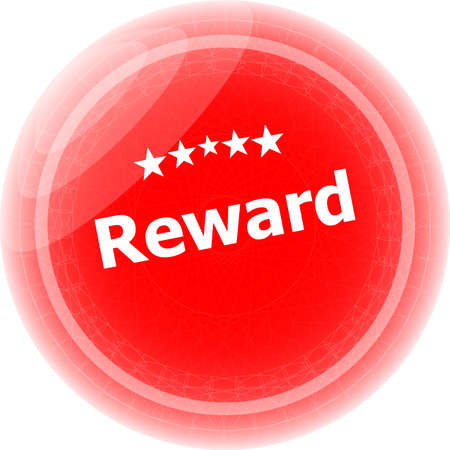 reward red rubber stamp over a white background photo