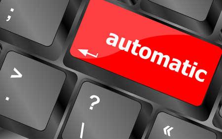 automatic: automatic button on computer keyboard key Stock Photo