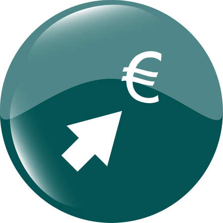 Currency exchange icons, euro money sign with arrows photo