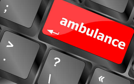 execute: ambulance Button on Modern Computer Keyboard key