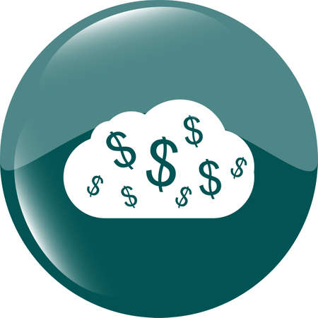 web icon cloud with dollars sign photo