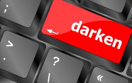 verdunkeln: verdunkeln Wort auf Taste der Tastatur, Notebook-Computer-Taste Lizenzfreie Bilder