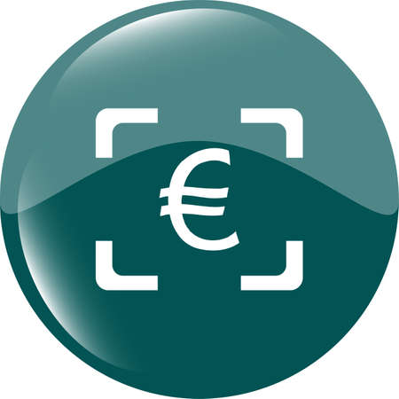 converter: Currency exchange sign icon. Currency converter symbol. Money label. shiny button. Modern UI website button