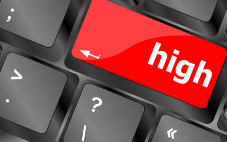 numpad: high word on computer pc keyboard key