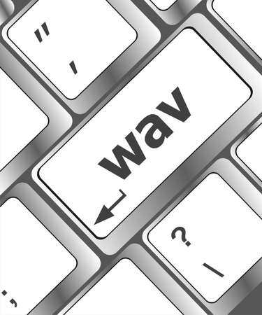 wav word on keyboard keys button photo