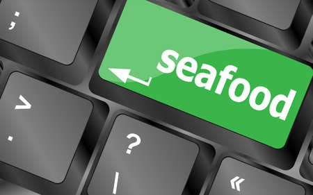 keyboard key layout with sea food button photo