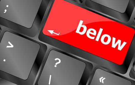 button computer: menores que la palabra clave en el teclado bot�n del ordenador, port�til