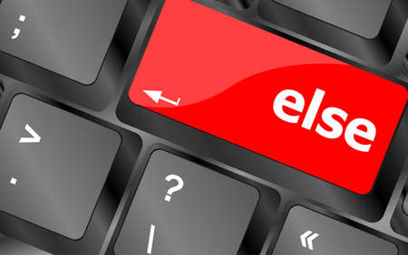 else: else button on computer pc keyboard key