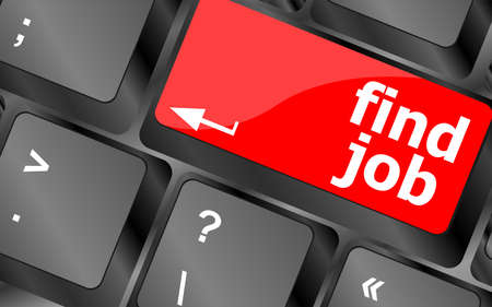 Searching for job on the internet. Jobs button on computer keyboard photo